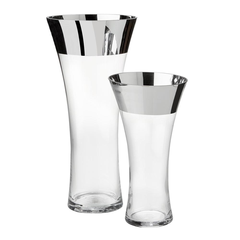 XC-256 Silver Glass Vase