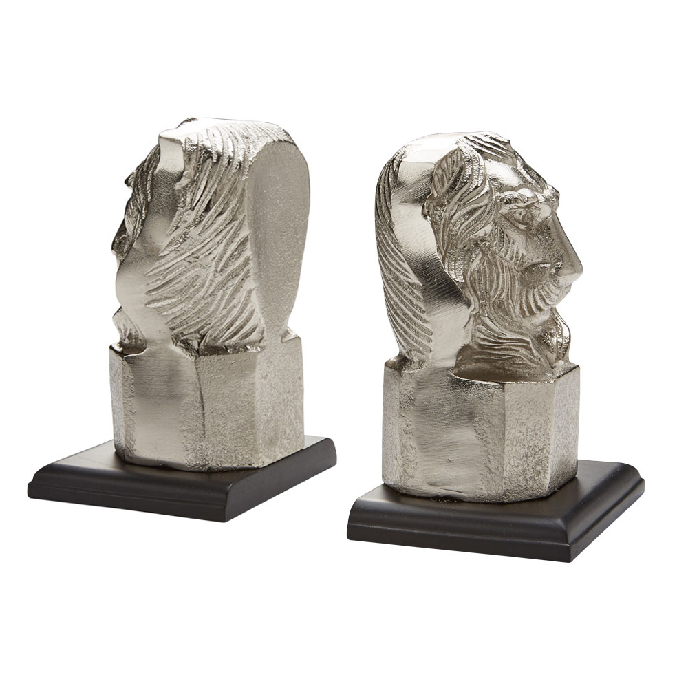 XC-49164 Lion Head Bookends