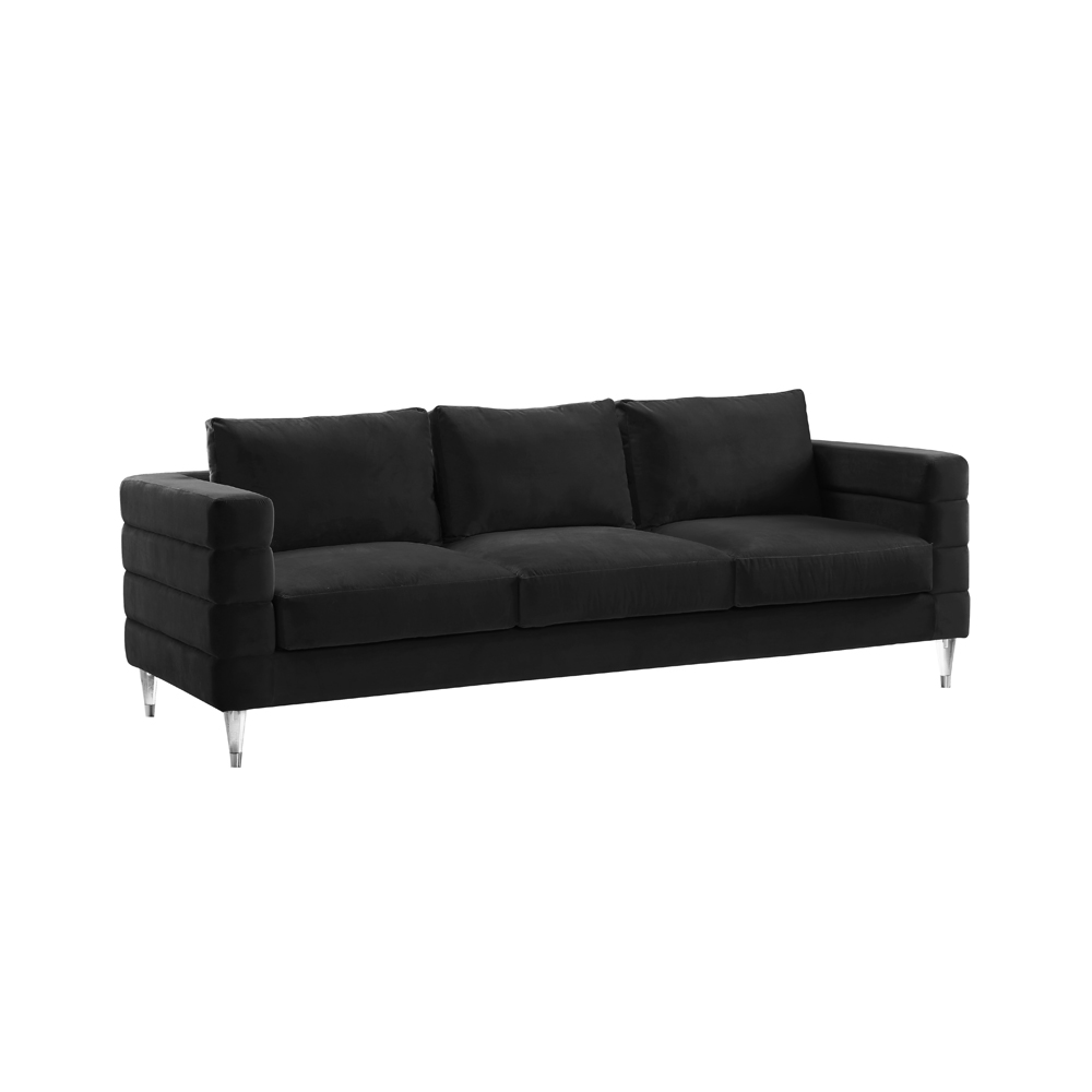 Channel Sofa: Black Velvet