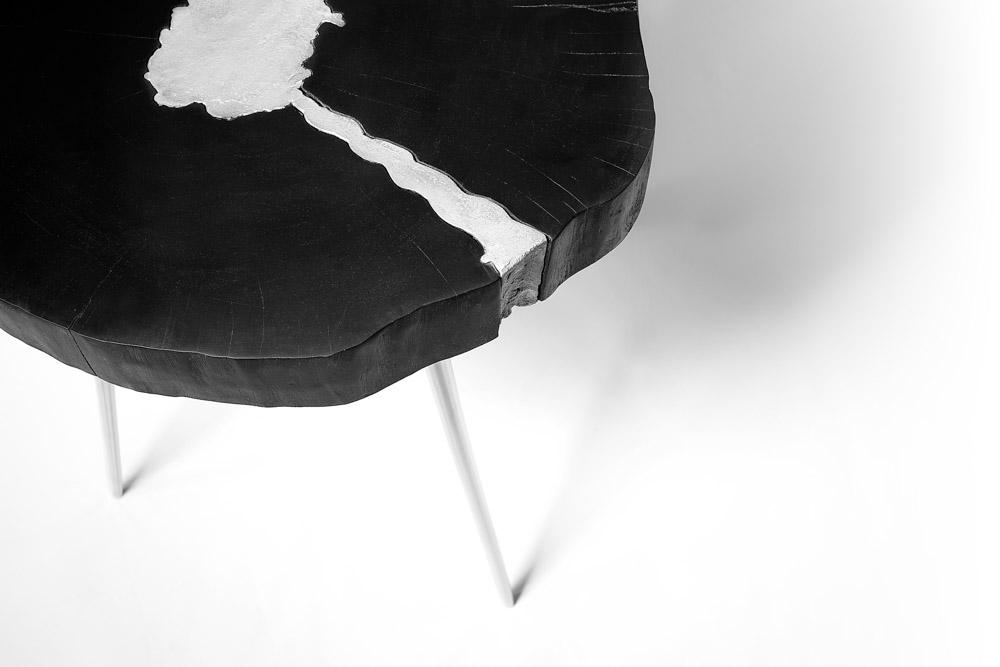 Akis Black Side Table