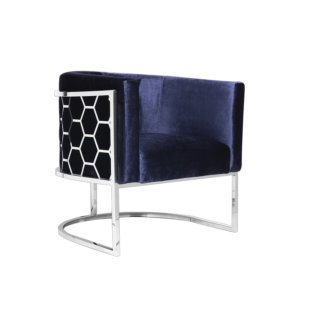 Honeycomb Chair: Blue Velvet