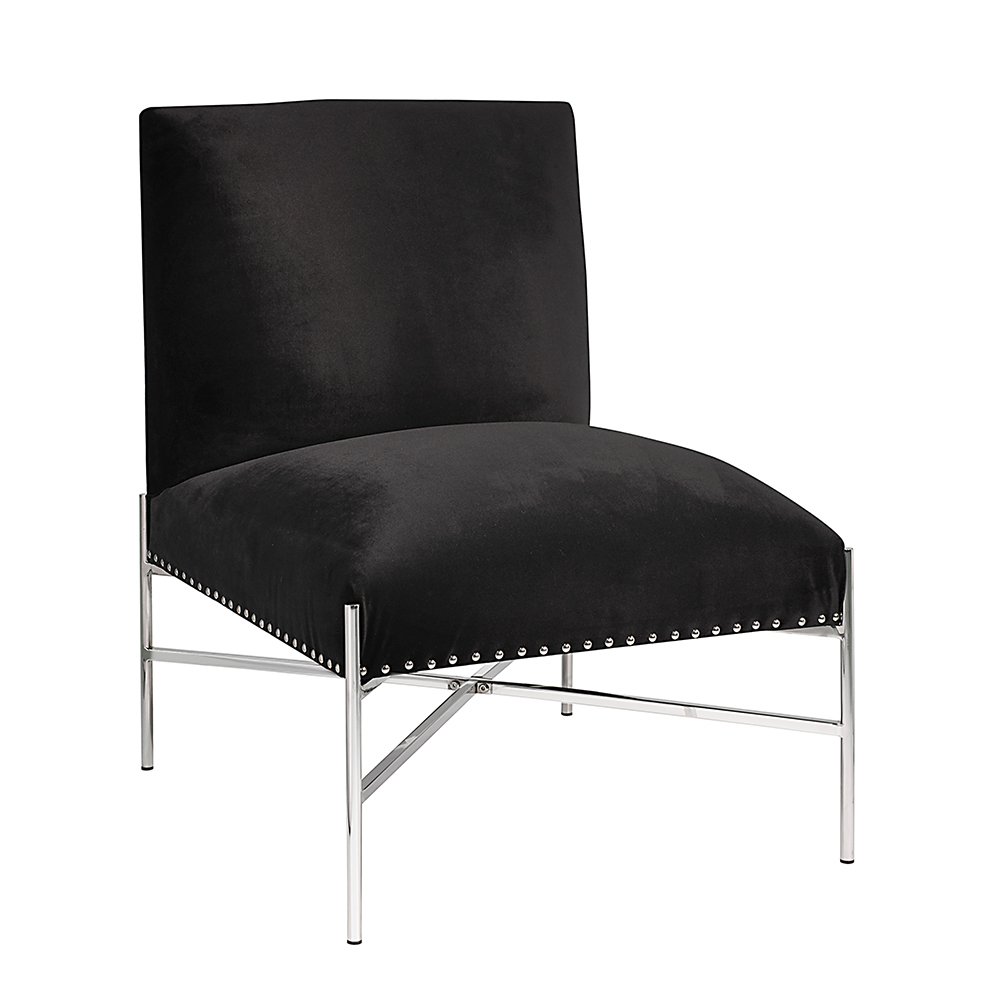 Barrymore Black Velvet Chair