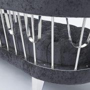 Bentley Sofa: Charcoal Fabric