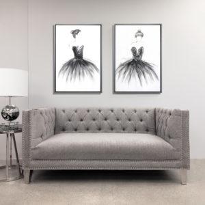 Barcelona Elizabeth Platinum Sofa
