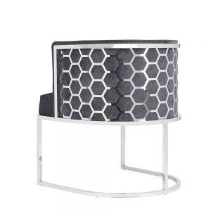 Chamberlain Chair: Charcoal Fabric