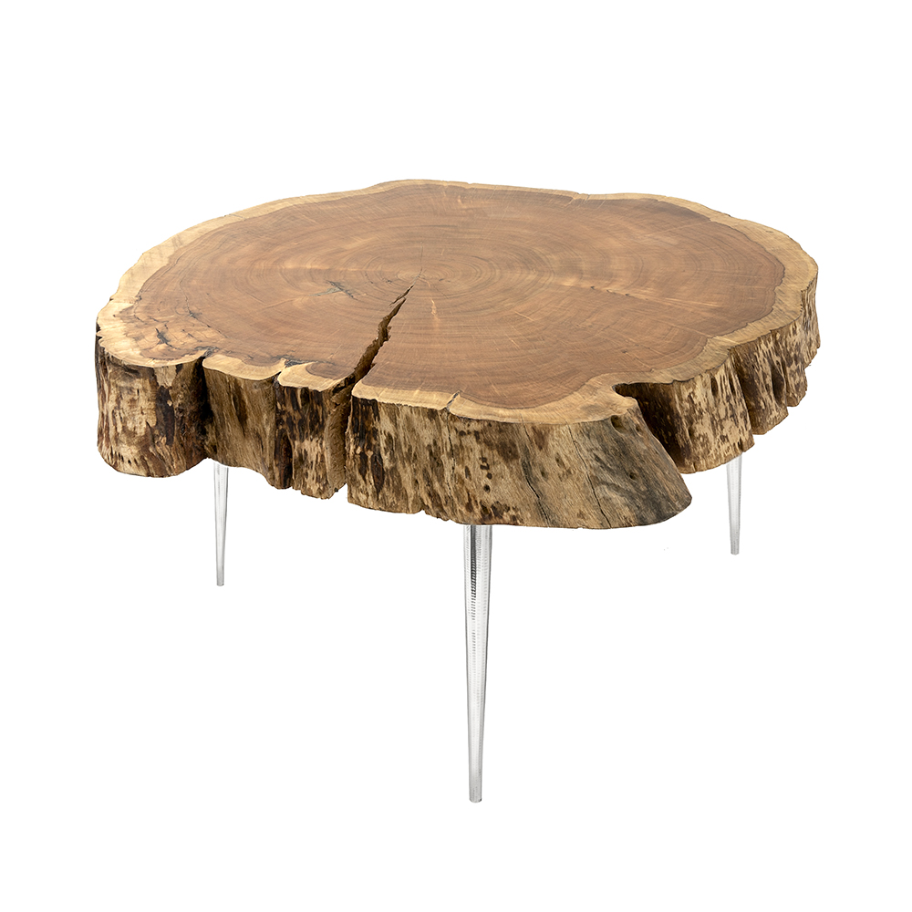 Akis Natural Coffee Table Without Aluminium Fill
