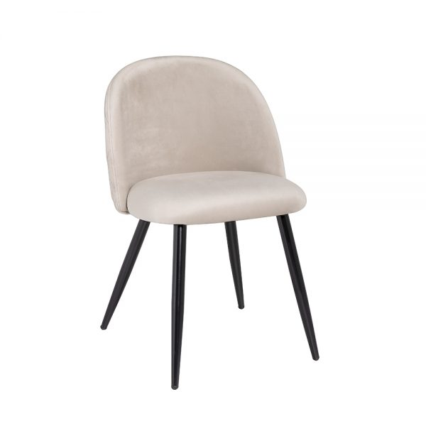 Saphire Cream Velvet Chair