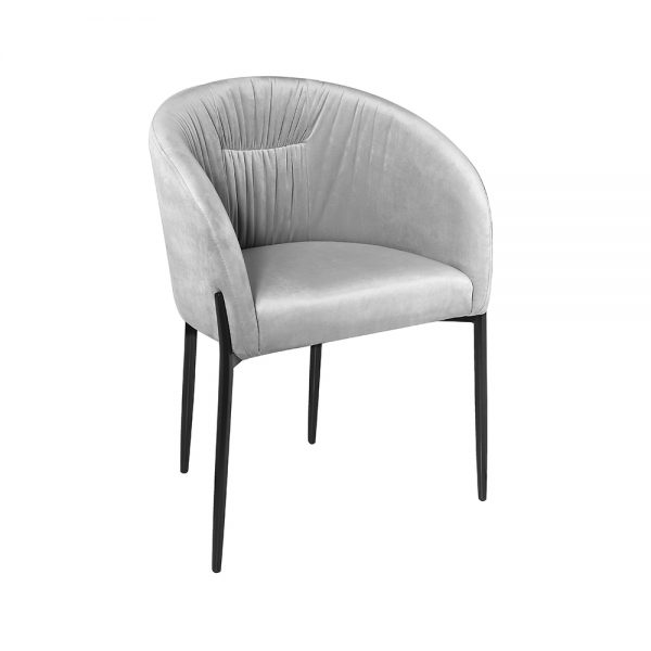 Rosemary Grey Velvet Chair