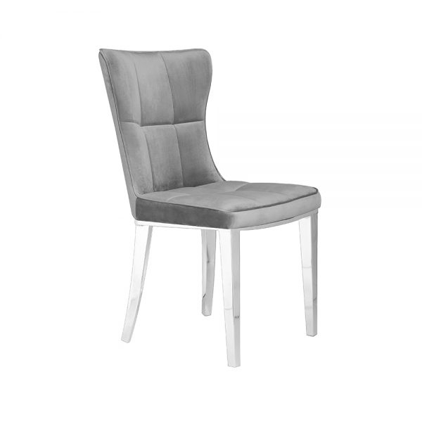 Holden Grey Velvet Chair