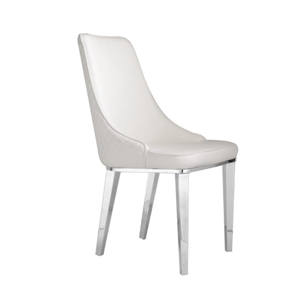 Baudelaire White Leatherette Chair