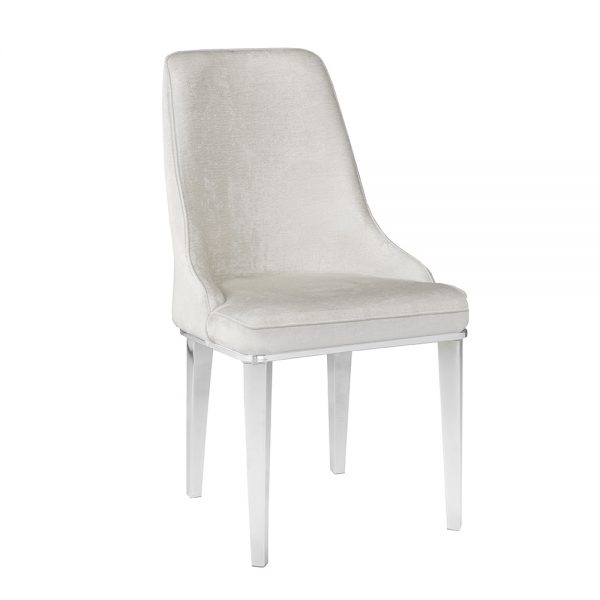 Baudelaire Ivory Fabric Chair