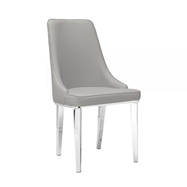 Baudelaire Grey Leatherette Chair