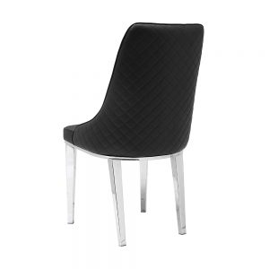 Baudelaire Black Leatherette Chair