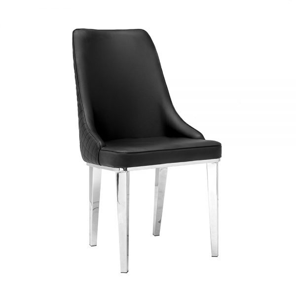 Baudelaire Black Leatherette Chair