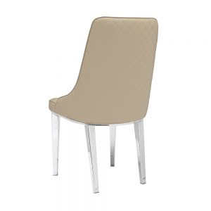 Baudelaire Beige Leatherette Chair