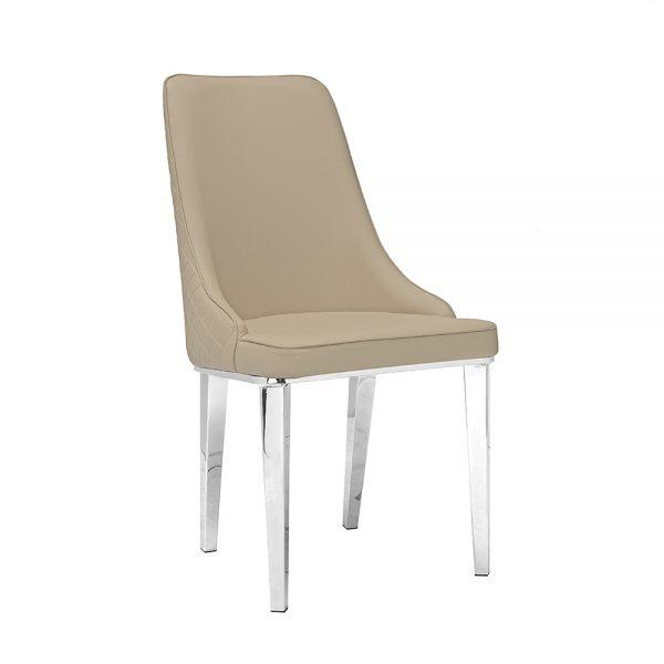 Baudelaire Beige Leatherette Chair