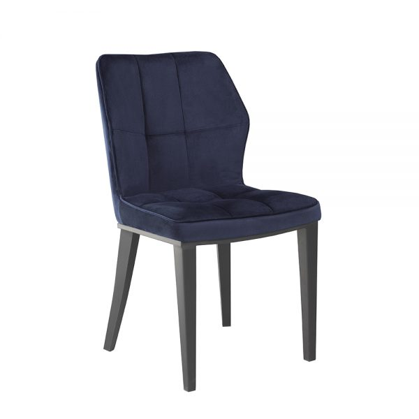 Anderson Blue Velvet Black Frame Chair