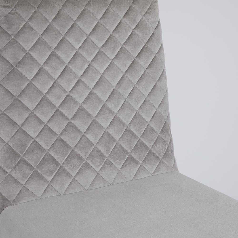 Alisa Grey Velvet Counter Chair