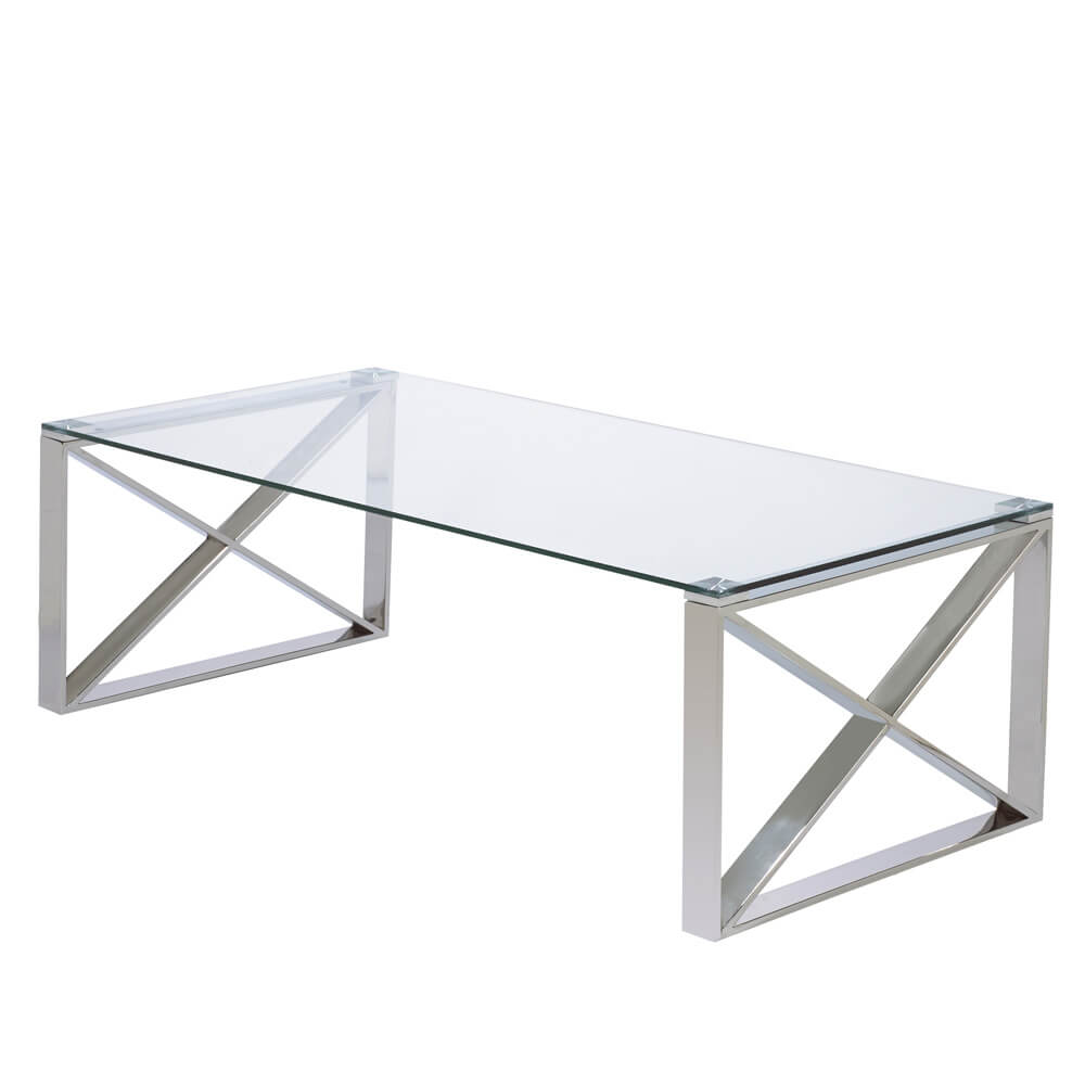 David X Leg Coffee Table: Regular Size
