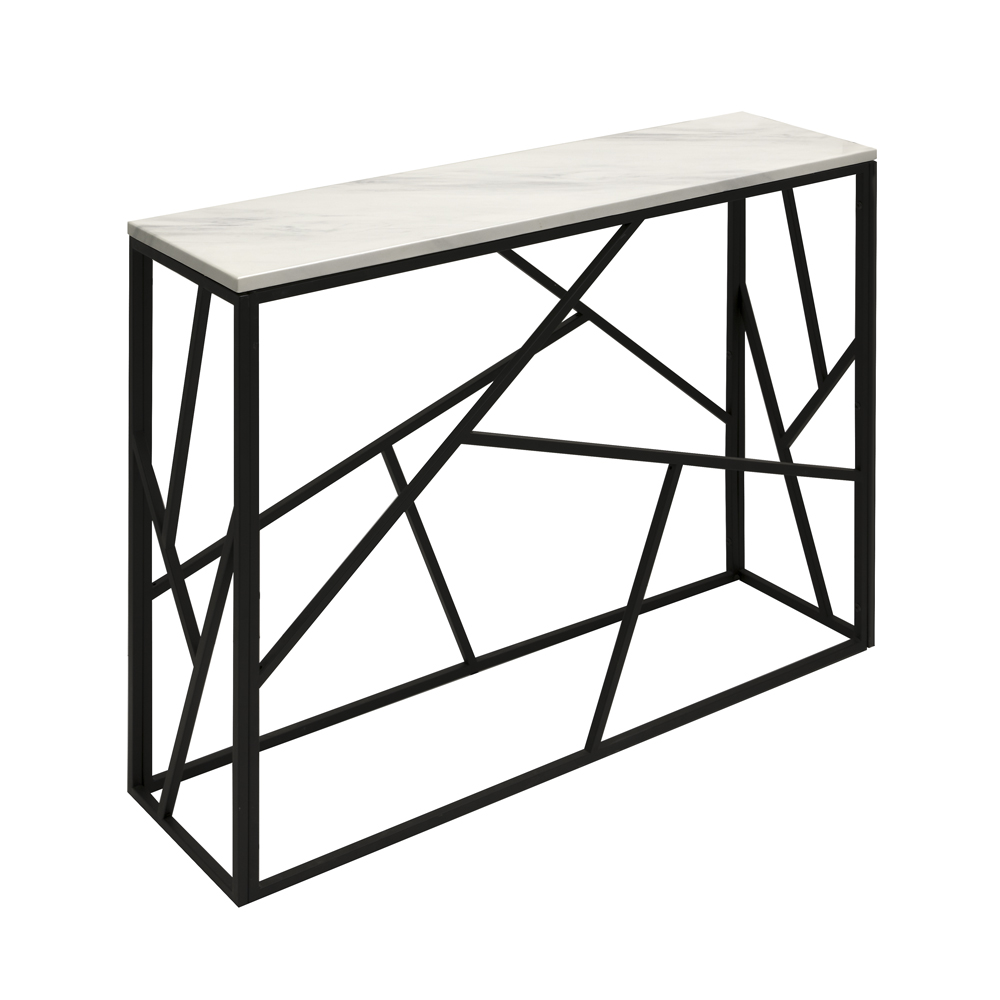 Carole Marble Console Table – Black Frame
