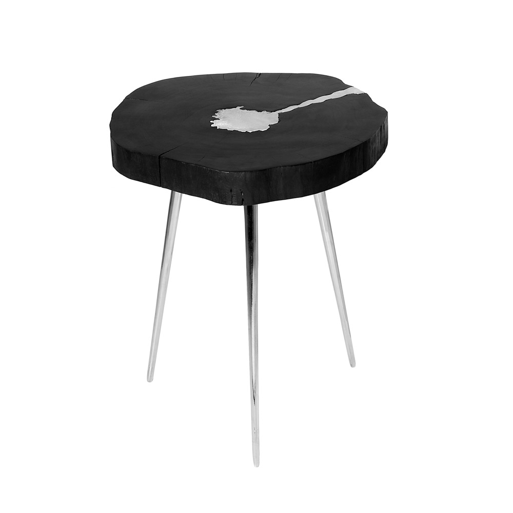 Akis Black Side Table