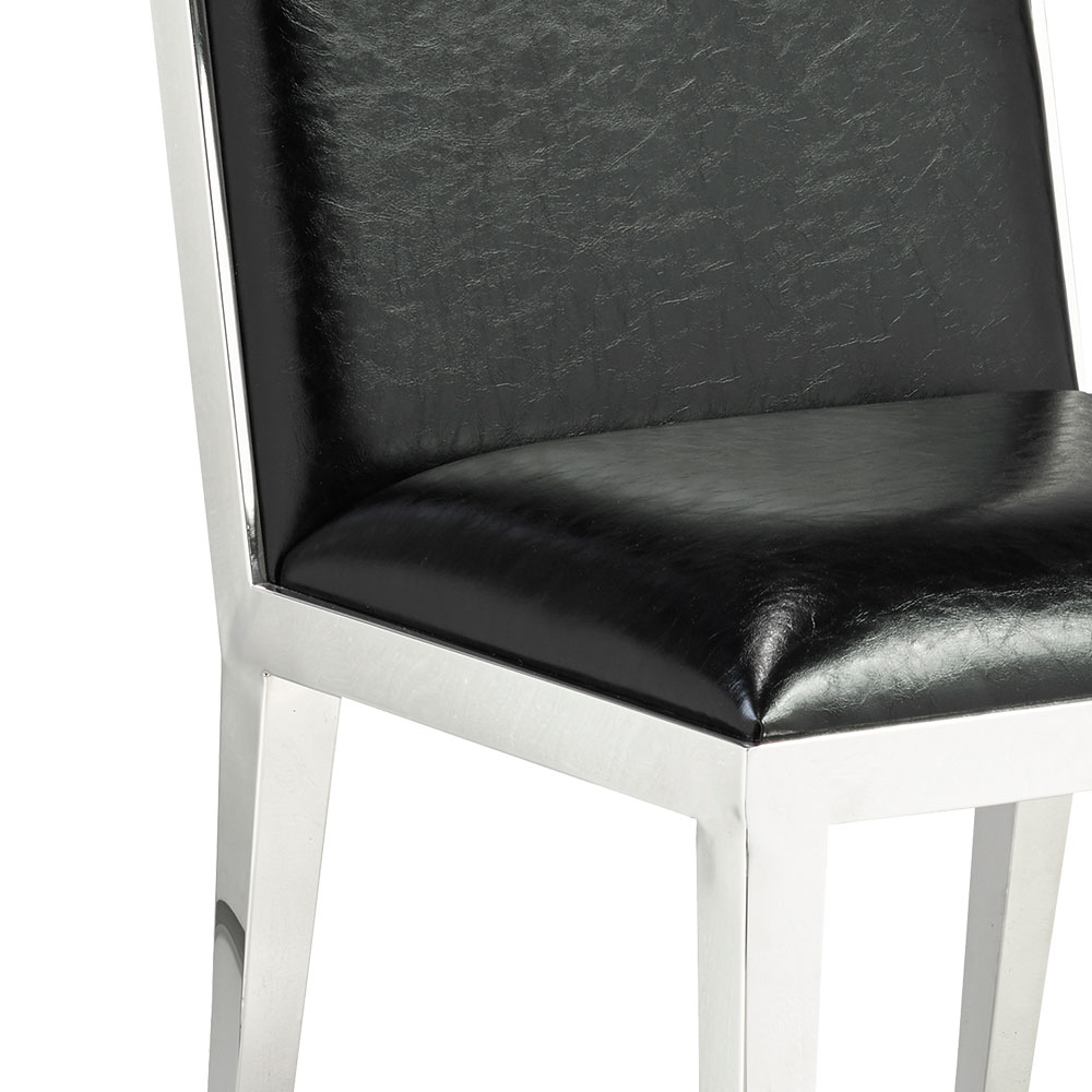 Emario Black Leatherette Dining Chair