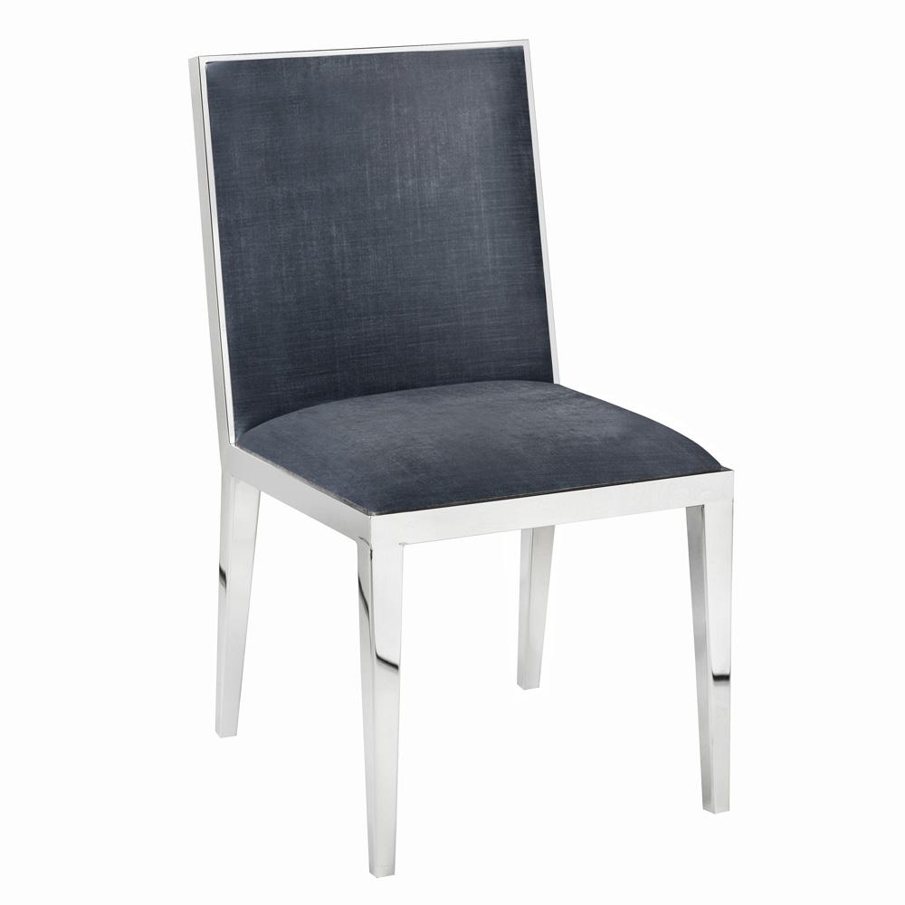 Emario Charcoal Velvet Chair