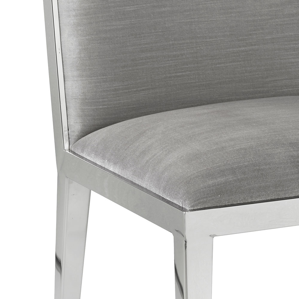 Emario Grey Velvet Dining Chair