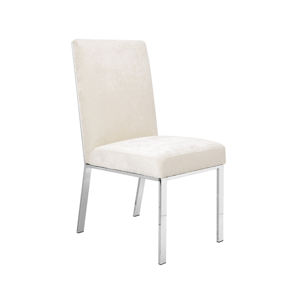 Emiliano Dining Chair: Ivory Color