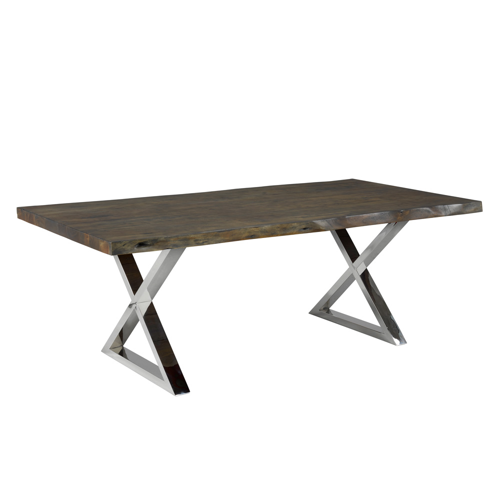 Organic Live Edge Dining Table 84″