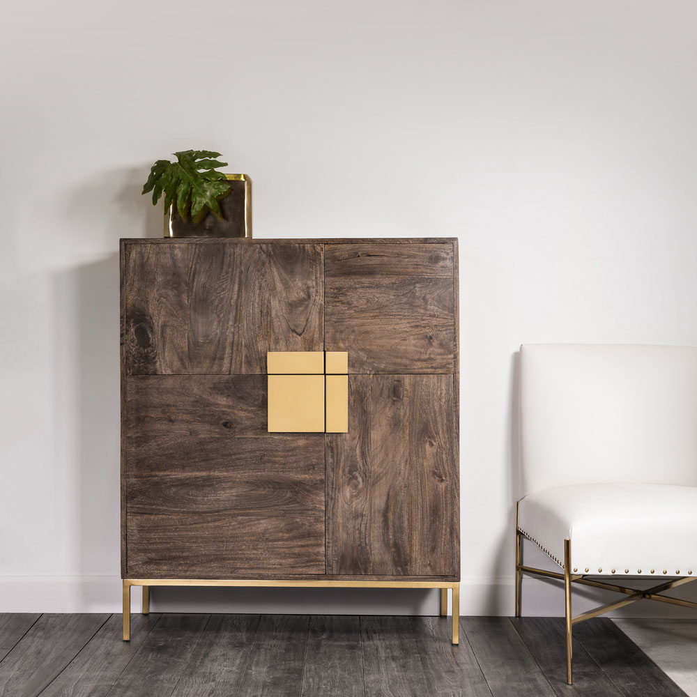 Luigi Brown Black Cabinet