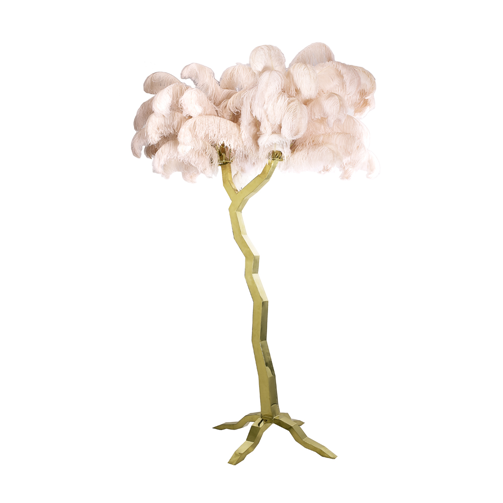 Ostrich Tree 87″ – Pink Gold