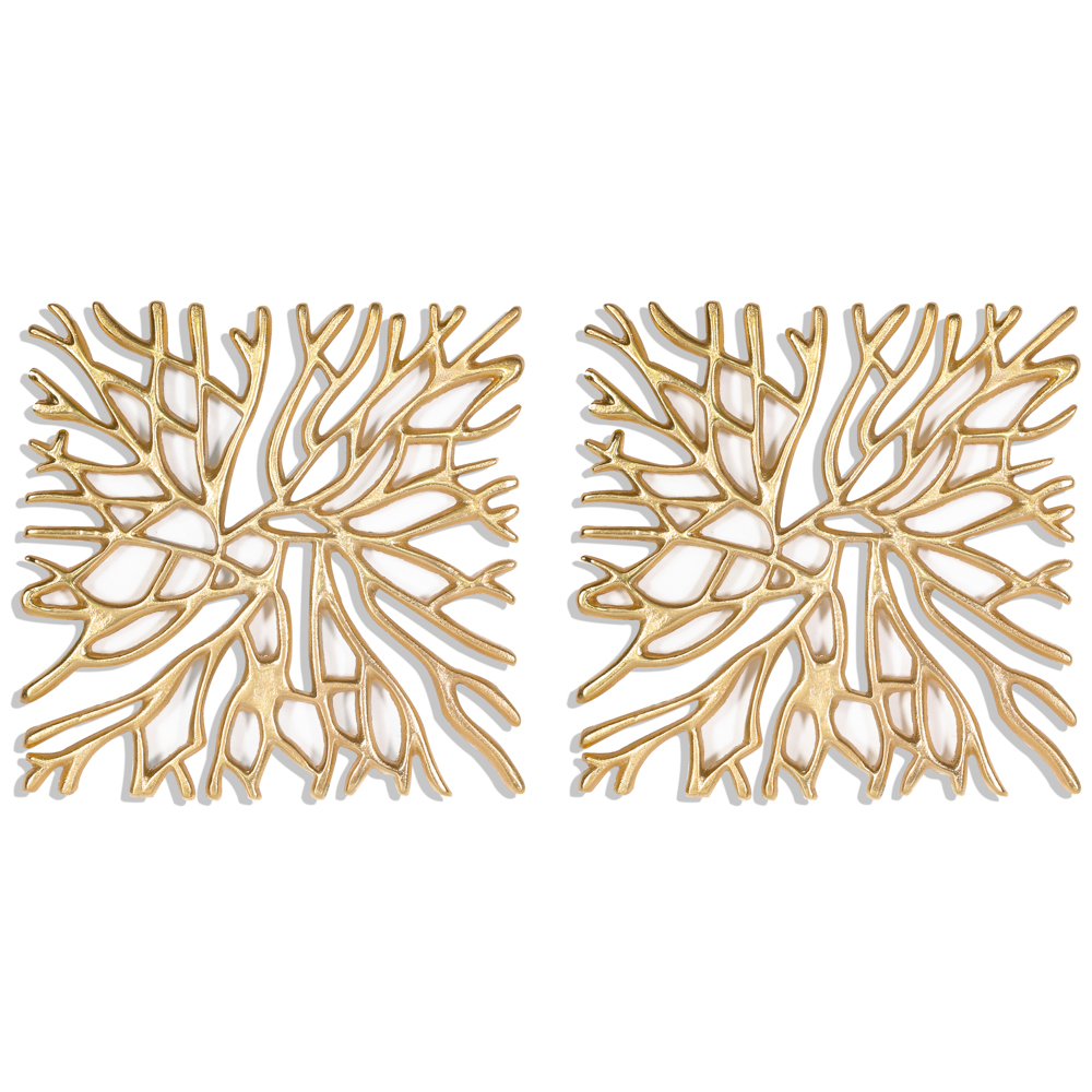 Aluminium Gold Wall Decor Set