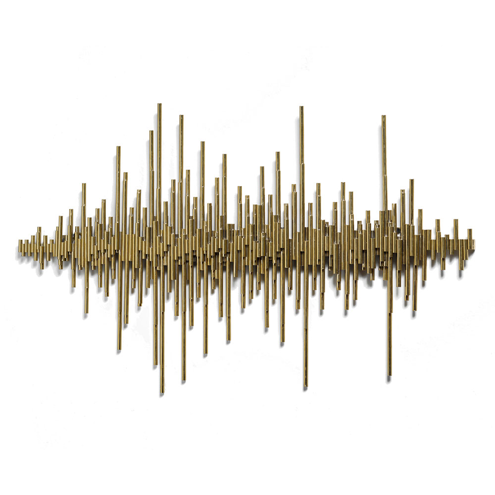 Frequency Wall Art – Gold