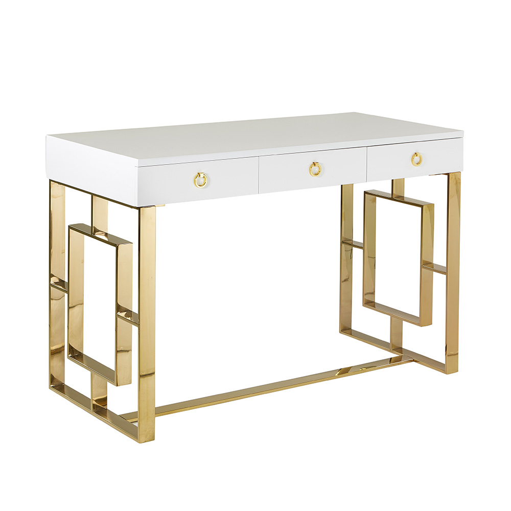 Baccarat White Gold Desk