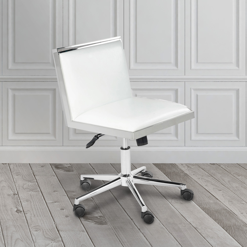 Emario White Leatherette Office Chair