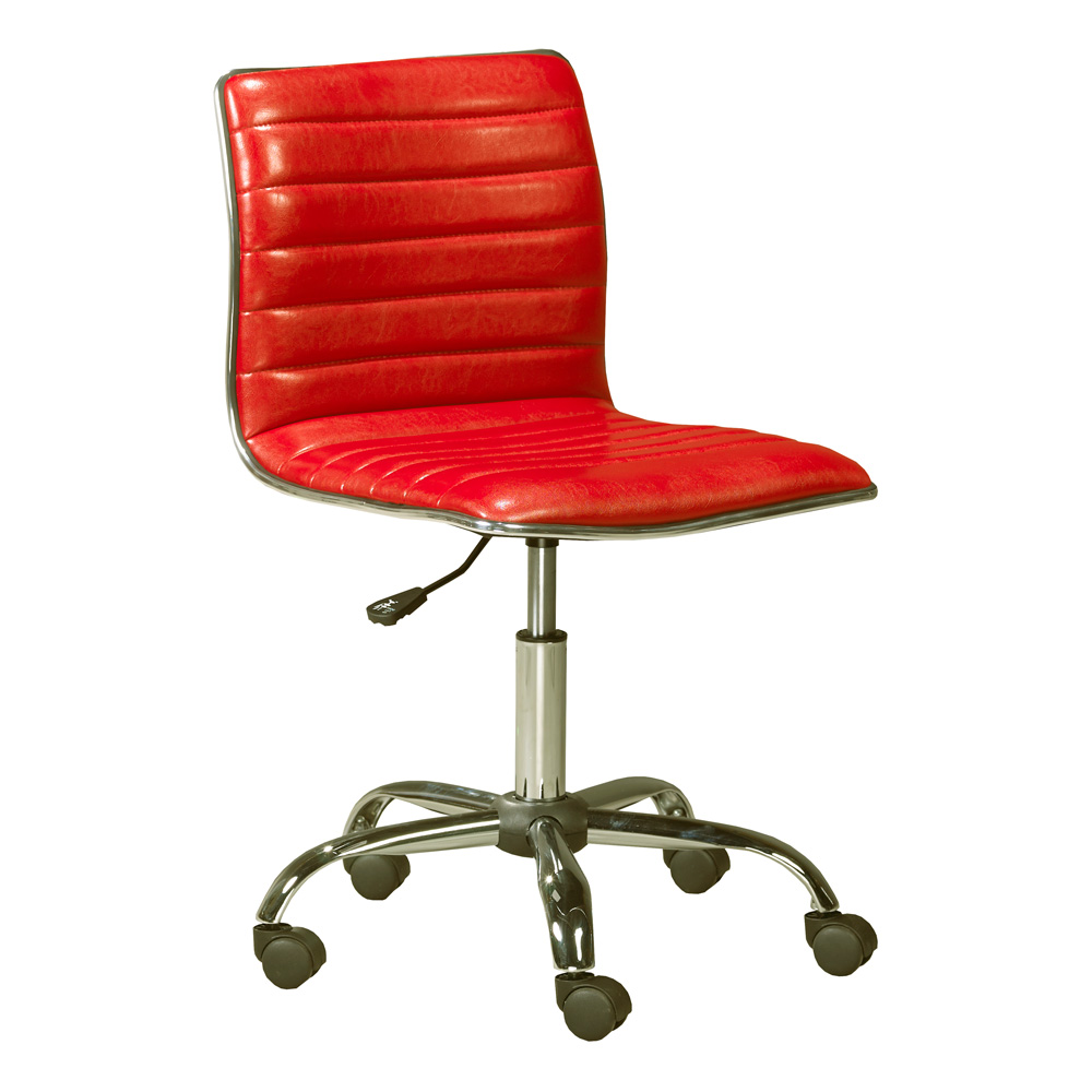 Hugo Red Leatherette Office Chair