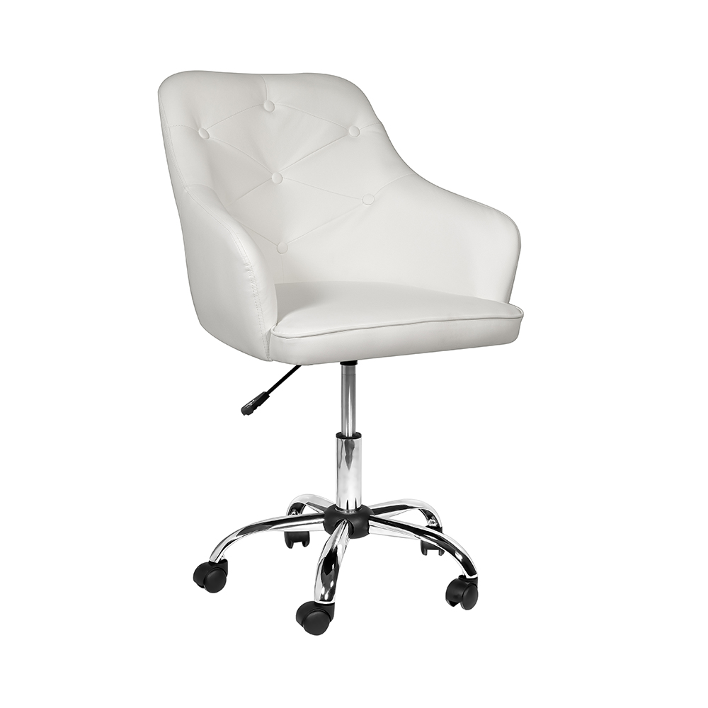 Omni Office Chair: Cream Leatherette
