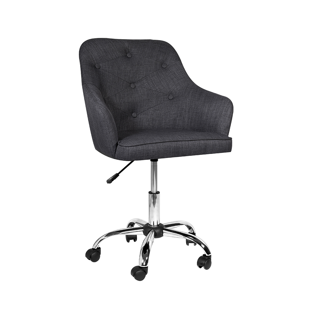 Omni Office Chair: Grey Linen Fabric