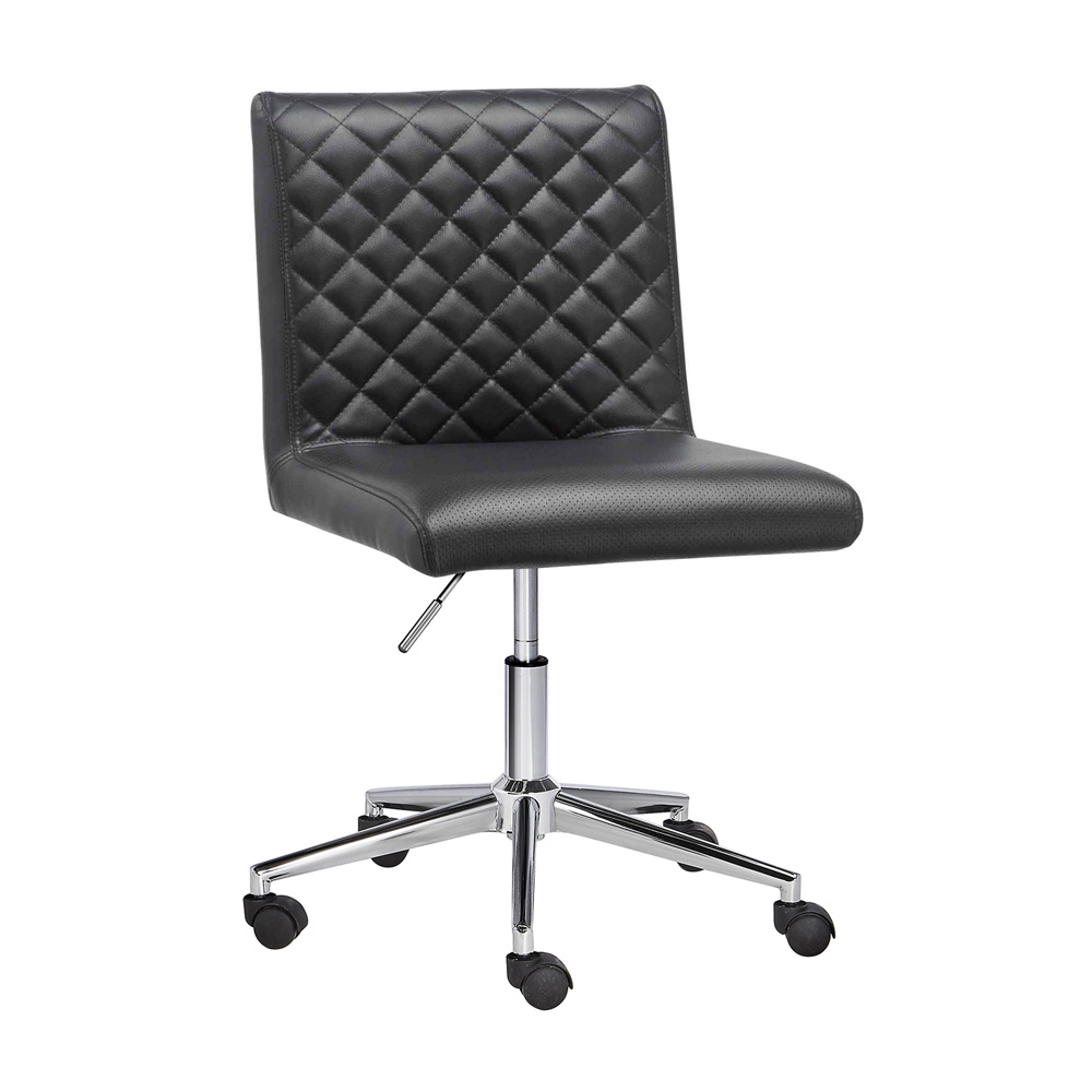Quilted Black Office Chair