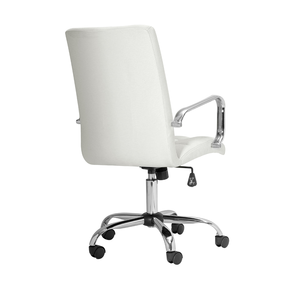 Selena High Back Canvas Fabric Office Chair With Arm