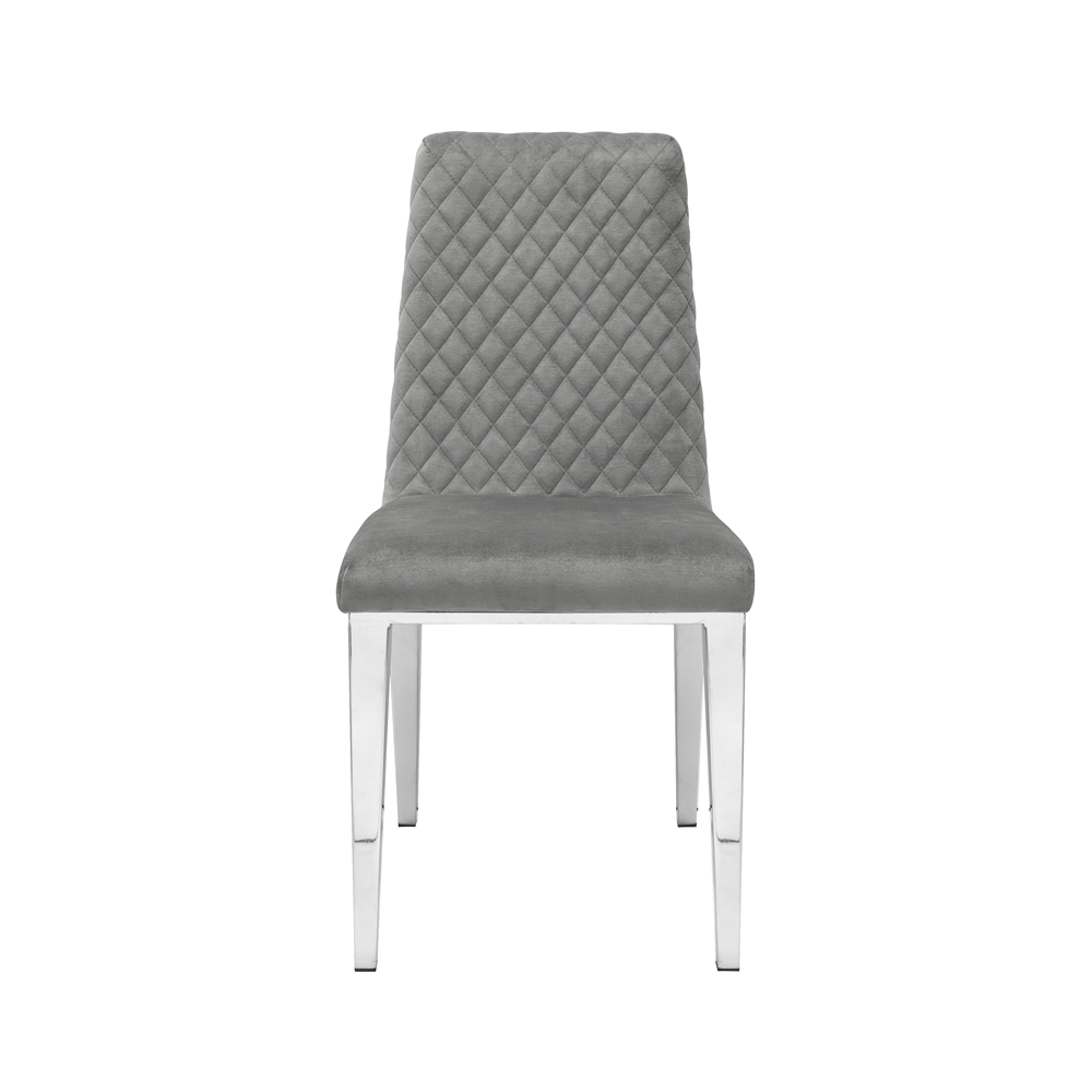 Alisa Grey Velvet Chair