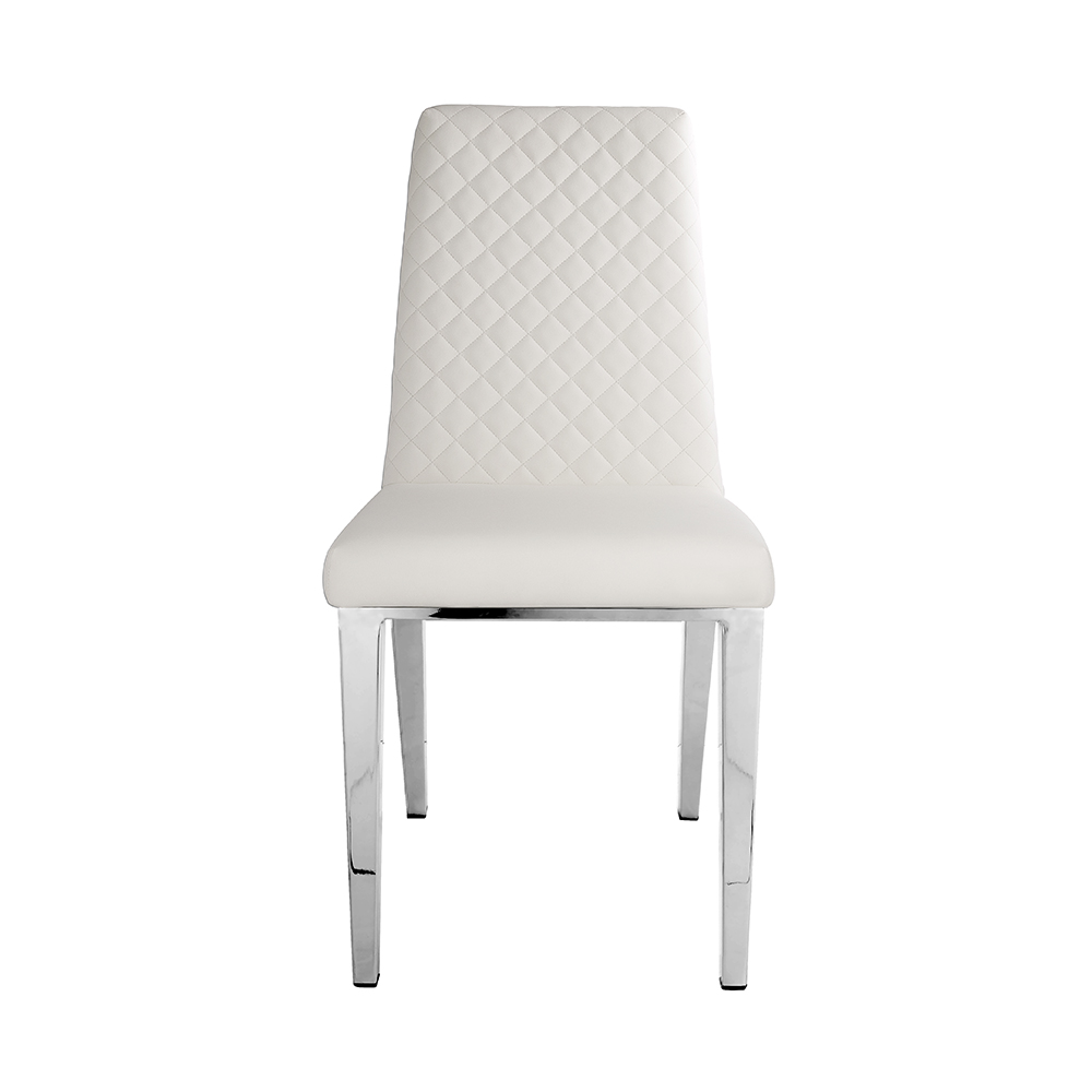 Alisa White Leatherette Chair