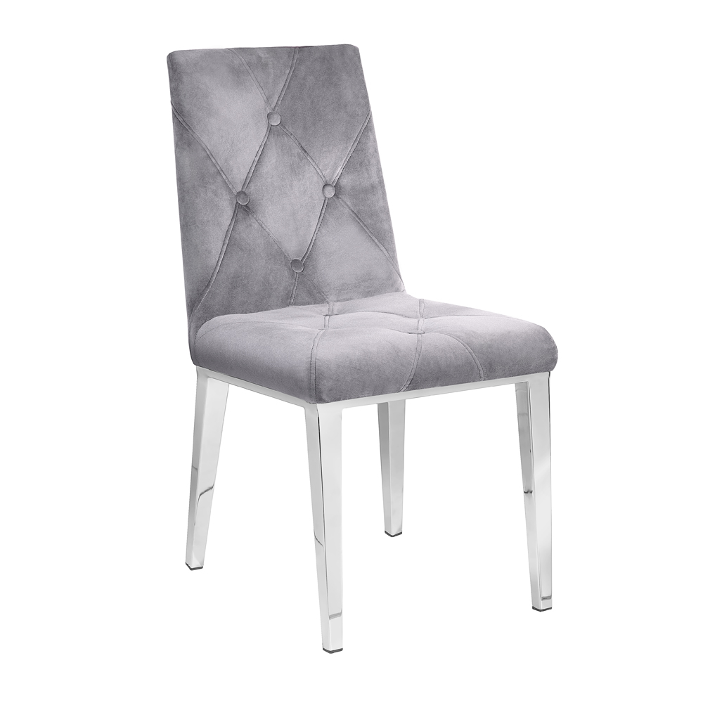 Alison Chair: Charcoal Velvet