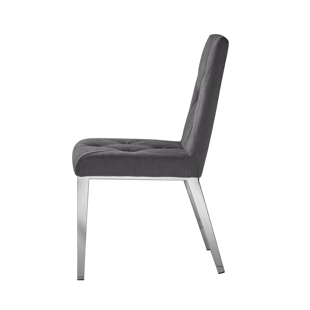 Alison Chair: Dark Grey Linen