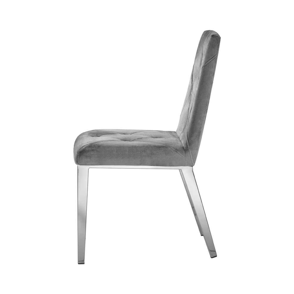 Alison Grey Velvet Chair