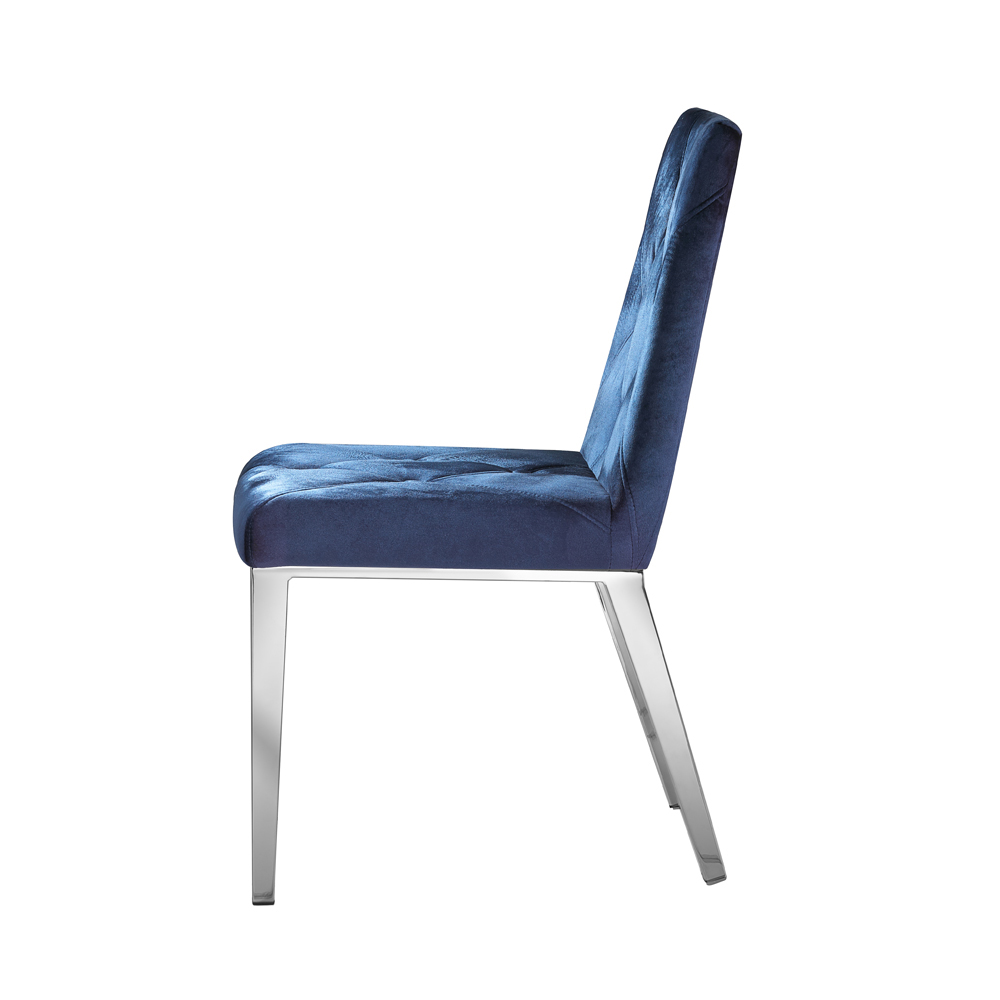 Alison Chair: Blue Velvet