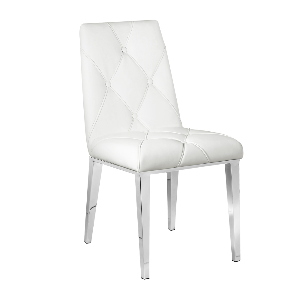 Alison White Leatherette Chair