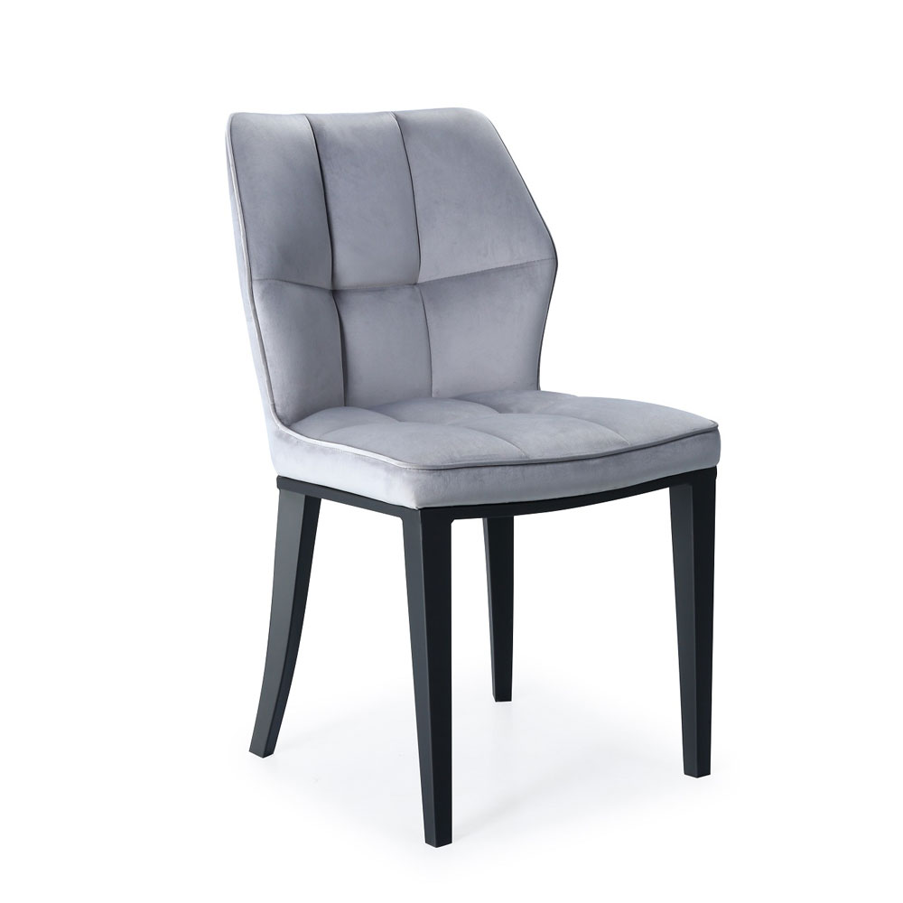 Anderson Grey Velvet Black Frame Chair
