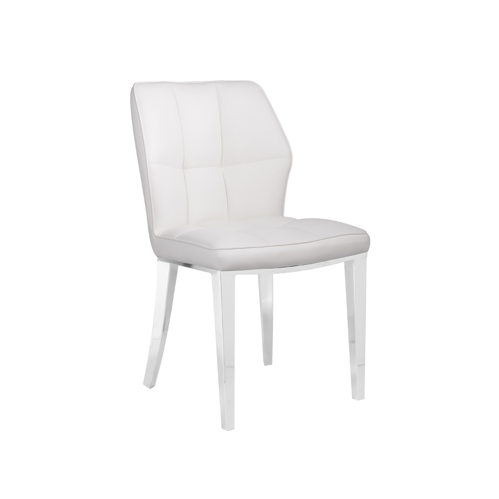 Anderson White Leatherette Chair